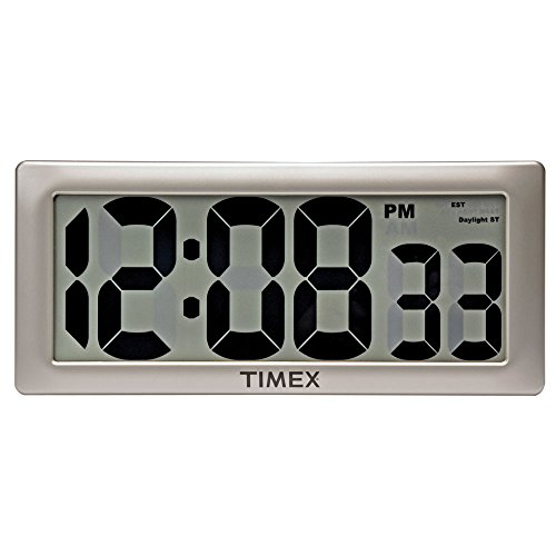 AcuRite 75127 Oversized LED Clock with Indoor Temperature, Date and