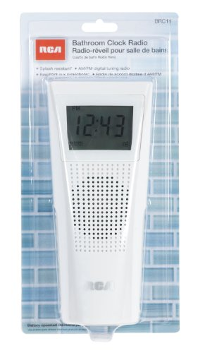 Listen to am/fm radio with crystal clear audio from the full-range speaker. Splash proof clock radio for your bathroom. Listen to news and music in your ...