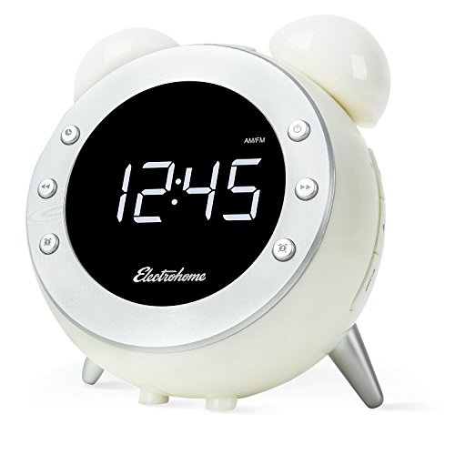 Electrohome Retro Alarm Clock Radio With Motion Activated