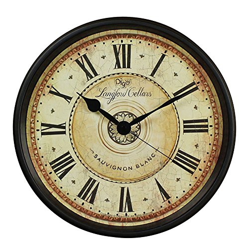 nice design quiet wall clock. The mechanisms are as recessed possible  which makes for a nicely finished product Good view with large Roman Numbers and HD glass guarantee good Wall Clock JUSTUP 12 inch Black European Style Retro