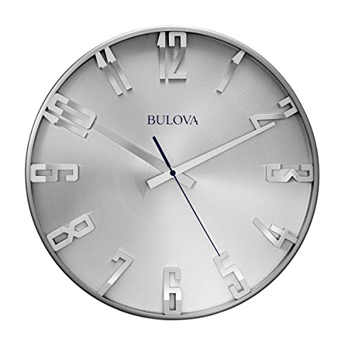 Bulova C4646 Silhouette Clock Brushed Stainless Steel