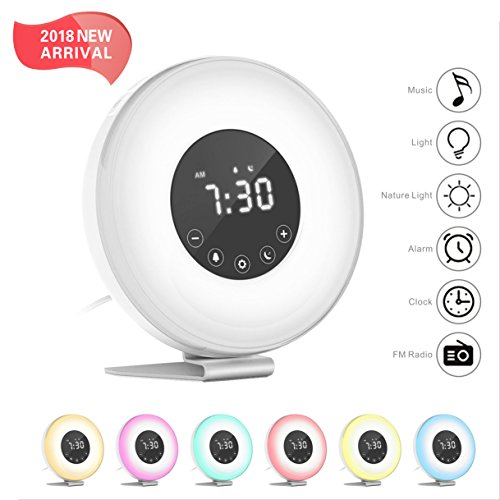 Hassh Sunrise Alarm Clock With Snooze Function For Heavy