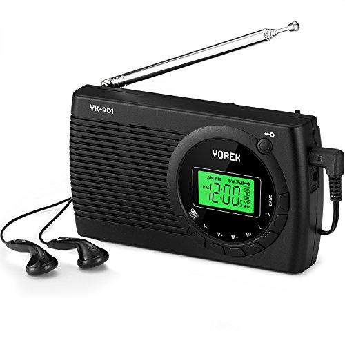 am fm sw radio yorek portable digital alarm clock radio. Black Bedroom Furniture Sets. Home Design Ideas