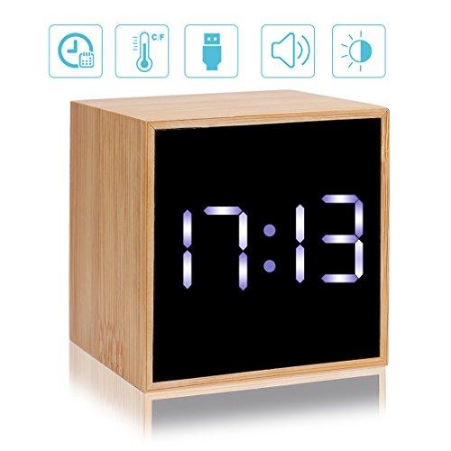 CORTEGE Digital Alarm Clock 4 Levels LED Light with Big Time ...