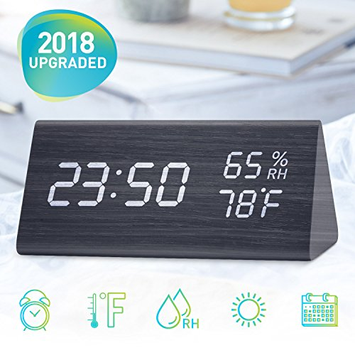 Besides, The Memory Function Of This Wooden Digital Clock Can Save Your  Alarm Setting Even If You Power It Off. Digital Alarm Clock With Power ...