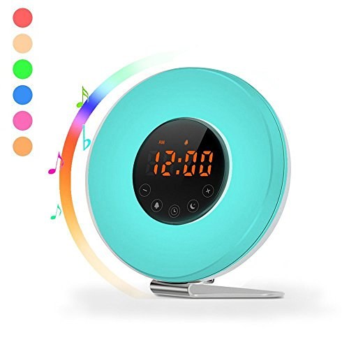 Wake Up Light Digital Alarm Clock Sunrise Simulation