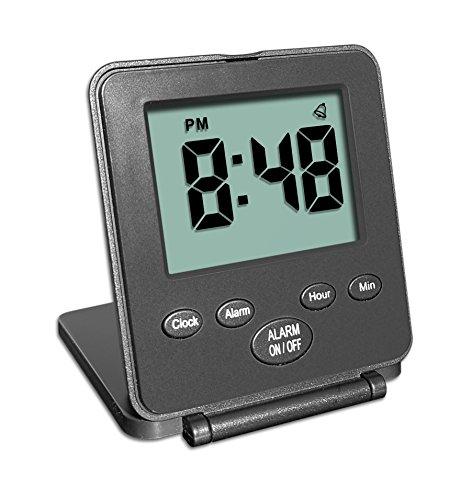 MXXGMYJ Foldable Digital Alarm Clock Desktop Tabletop
