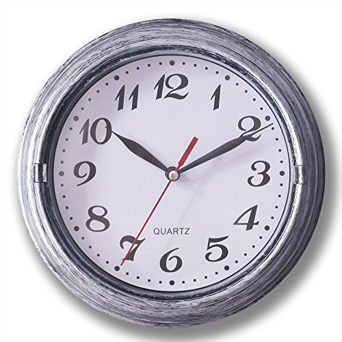 Decorative Silent Wall Clock Non Ticking 8 Inches Round