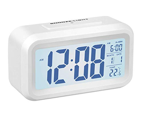 qianxiang digital alarm clock battery operated long battery life alarm clock back light snooze. Black Bedroom Furniture Sets. Home Design Ideas