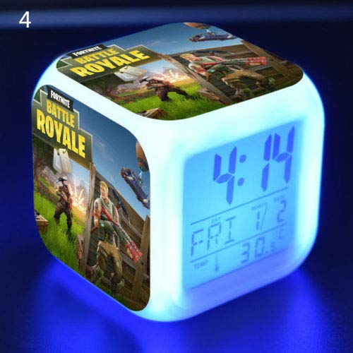Ocamo Digital Alarm Clock Fortnite Game Figures Color Changing Night